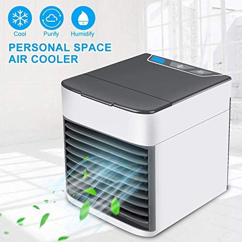 Mobile Air Conditioners Mini Air Cooler Upgraded 3 In 1 Portable Arctic Mini Air Conditioner Humidifier Purifier 2 Mood Lights Mobile Air Conditioner Air Cooler Portable Air Conditioner