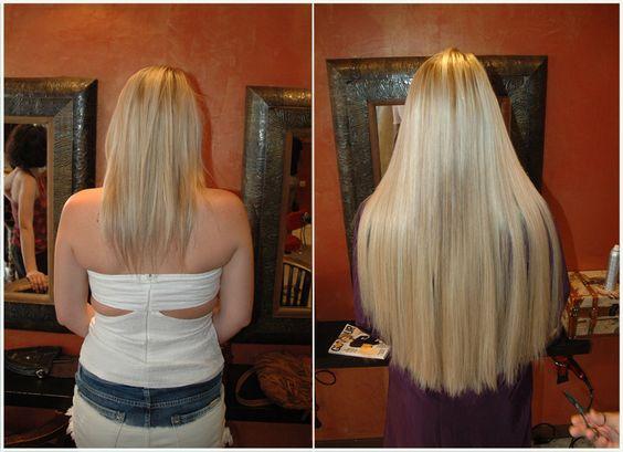 Great hair extensions by amaryllis paris before after for Salon extension cheveux paris