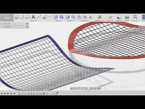 How To Make A Wire Net Wire Grill Wire Mesh In Fusion 360 Fusion 3 Solidworks Tutorial Wire Mesh Wire Netting