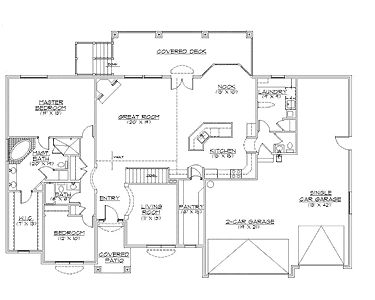 Rambler house plans with basements traditional rambler for Rambler plans