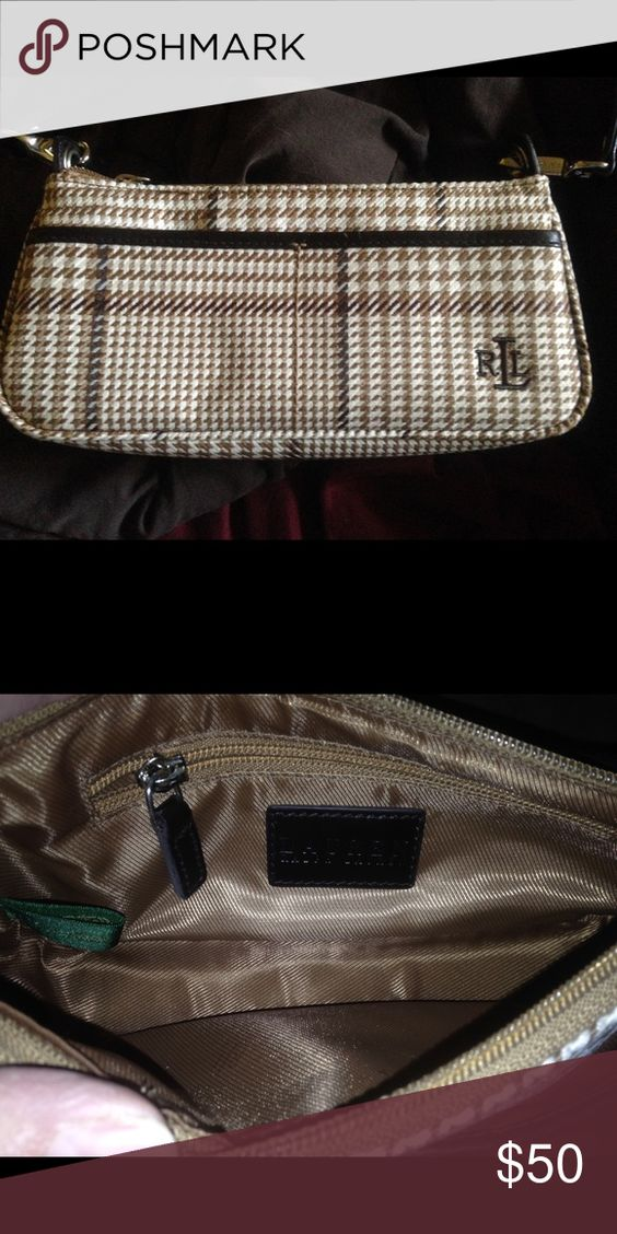 New Small Ralph Lauren Purse Inside zipper. New without tags. Very cute. Ralph Lauren Bags Mini Bags