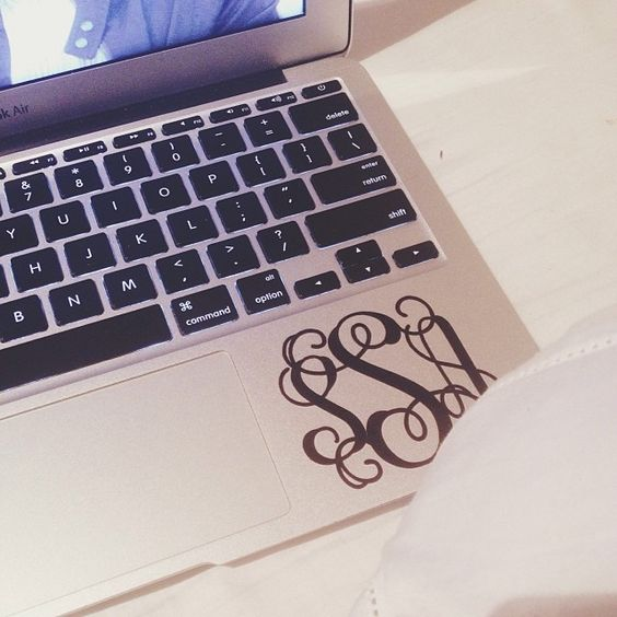 laptops  monograms and laptop stickers on pinterest