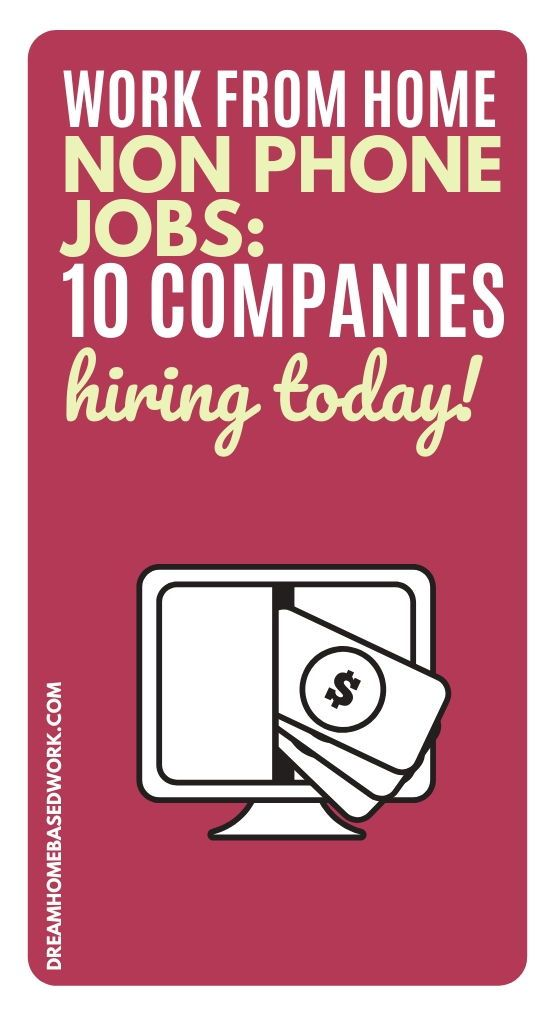 Non Phone Work From Home Jobs 10 Companies Hiring Today Typing