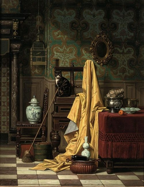 Charles Joseph Grips: A Domestic Interior, 1881.