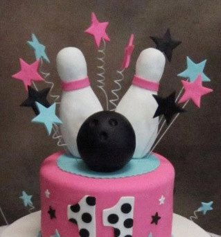 Bowling Cake Topper by Paolascreations on Etsy, $50.00
