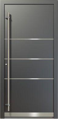 Puerta de aluminio Style Y22A vista exterior