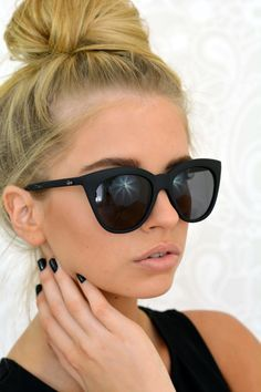 http://www.newtrendclothing.com/category/quay-sunglasses/ Quay Australia Isabel in Black at Dizzy Doll Boutique