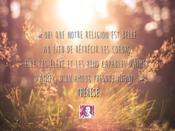 Citation de Sainte Thérèse de Lisieux: