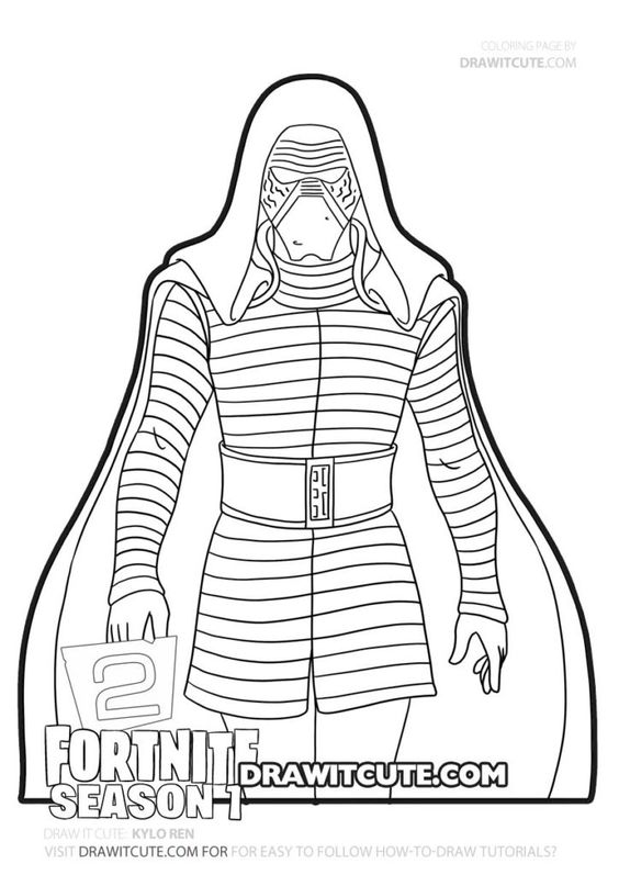 Kylo Ren Fortnite Chapter 2 Coloring Pages Draw It Cute Fortnite Coloringpages Fanart Coloring Pages Cute Coloring Pages Dragon Coloring Page