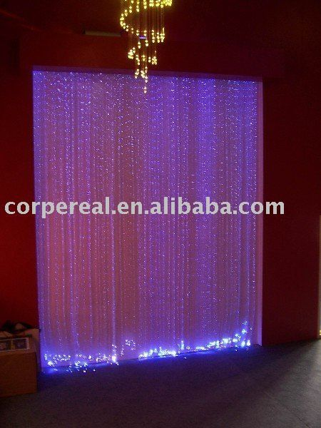 Purple Curtain Led Optic Fiber Light/SGS approval