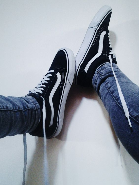vans old school black mens