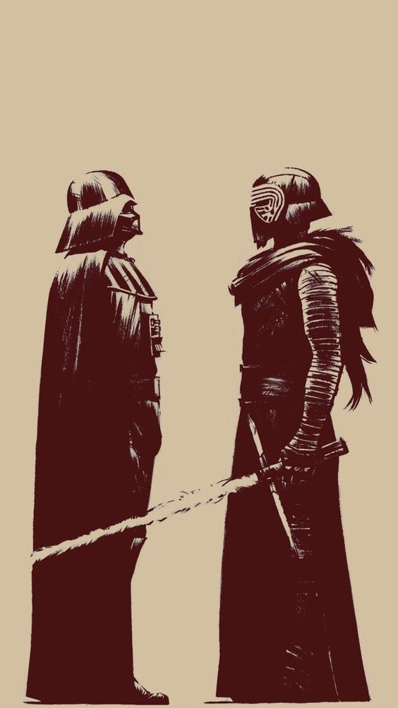 "Darth Vader: ""I HAVE COME FROM THE AFTERLIFE BECAUSE YOU NEED TO STOP."" Kylo: ""But--"" Vader: ""STOOOOOOP."""