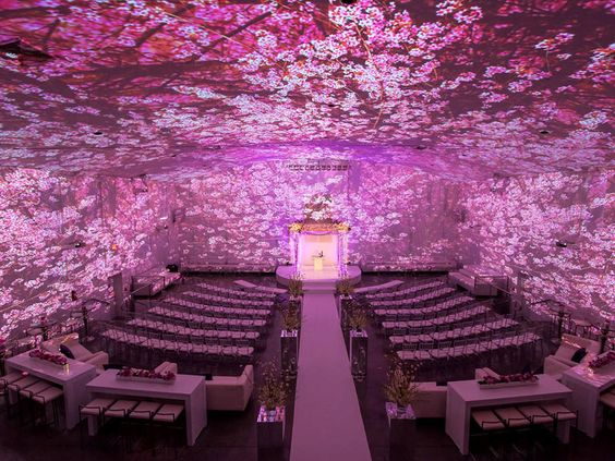 Hot Wedding Trends for 2017 | TheKnot.com  This is called image mapping. . Image mapping is a projection technology that allows you to transform a space with lighting and moving pictures. You can change scenes too, giving your ceremony and reception each its own special vibe
