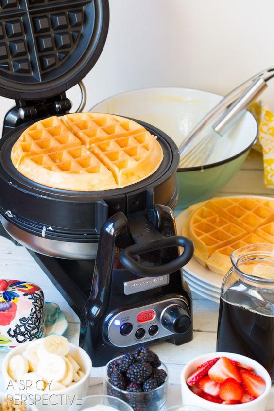 Best Homemade Waffle Recipe - Yogurt Vanilla Bean Waffles #breakfast # ...