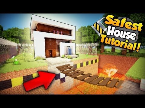 Minecraft Safest Modern Redstone House Tutorial How To Build A House In Minecraft Youtube In 2020 Minecraft Houses Minecraft House Tutorials Minecraft
