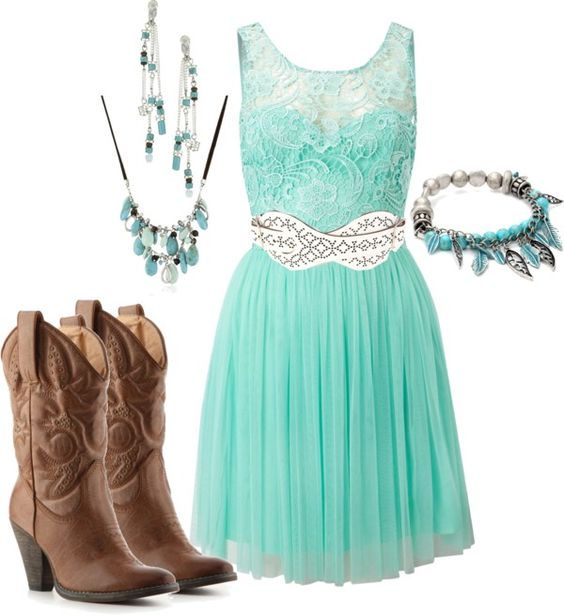 love this dress and the color. the boots would make this perfect for a country wedding: