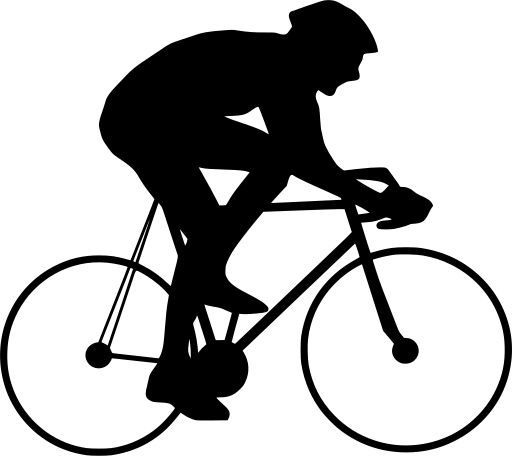Svg Cyclist Riding Helmet Bicycle Free Svg Image Icon Svg Silh Bike Art Bicycle Svg
