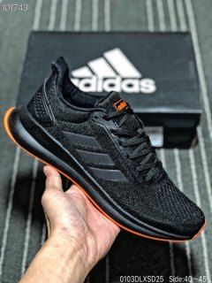 Mens Winter Sneakers Adidas Cloudfoam Triple black orange