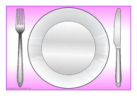 Dinner Plate A4 Editable Templates Sb4904 Sparklebox Dinner