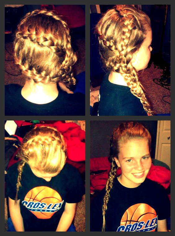 Michelle's hair. I'm so proud of my masterpiece<3