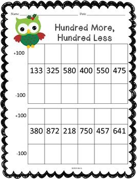 Christmas Math Worksheet Pack | Places, Sweet and Place values