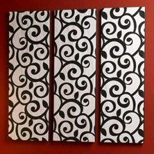 Modern Wallpaper Wall Art with STYROFOAM sheets and a roll of modern wallpaper