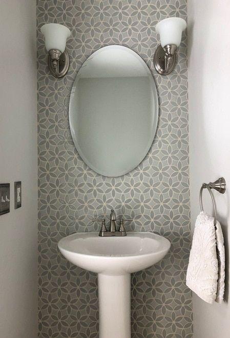 Two Color Bloom Handmade Tile Shabby Chic Badezimmer Badezimmer