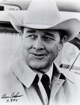 """Ben """"Son"""" Johnson, Jr. (June 13, 1918 – April 8, 1996) was an American Academy Award-winning film actor mainly cast in Westerns in the 1940s and 1950s. He was also a world champion rodeo cowboy, stuntman, and rancher.  Born in Foracre OK  on the Osage Indian Reservation."""