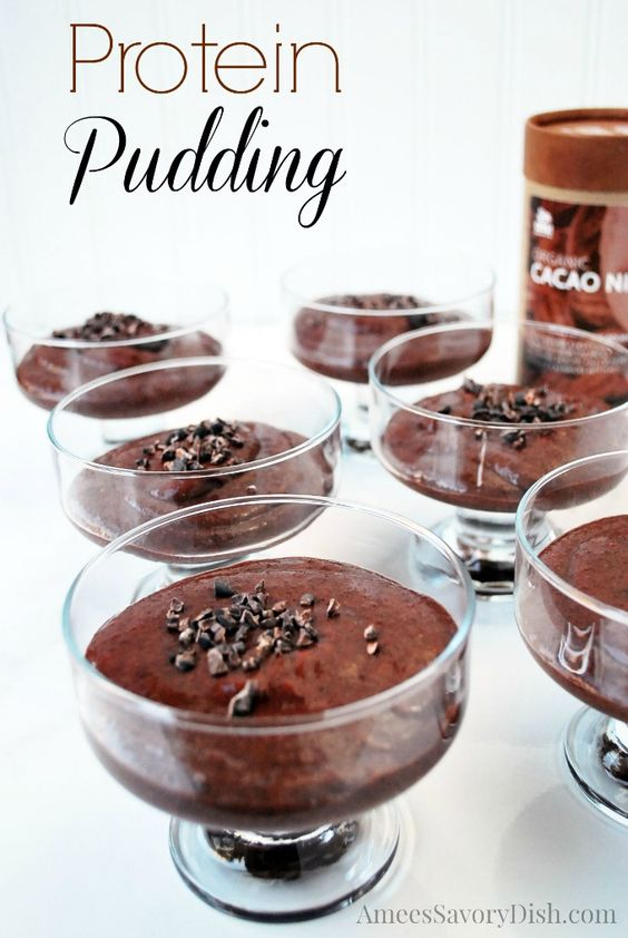 This dessert is packed with muscle-building protein! Protein Pudding http://ameessavorydish.com/protein-pudding/