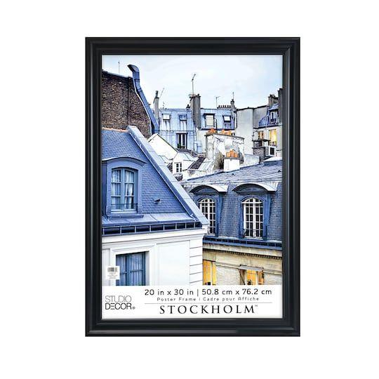 black poster frame stockholm by