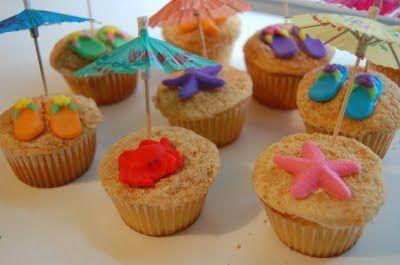 cute beach themed cupcakes
