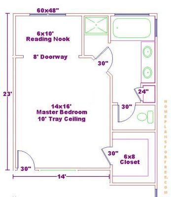 Master bedroom floor plans with bathroom bathroom plan for Free home addition plans
