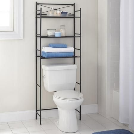 Mainstays 3 Shelf Bathroom Space Saver Oil Rubbed Bronze Oil Bronze And Bathroom