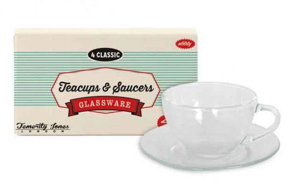 S/4 TEA CUP & SAUCERS - Temerity Jones
