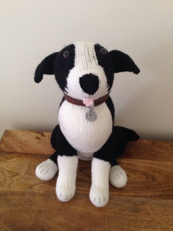 Free Knitting Pattern Toy Puppy : Collie dog -Alan Dart pattern - Alan Dart Pinterest - Collie hond, Patronen...