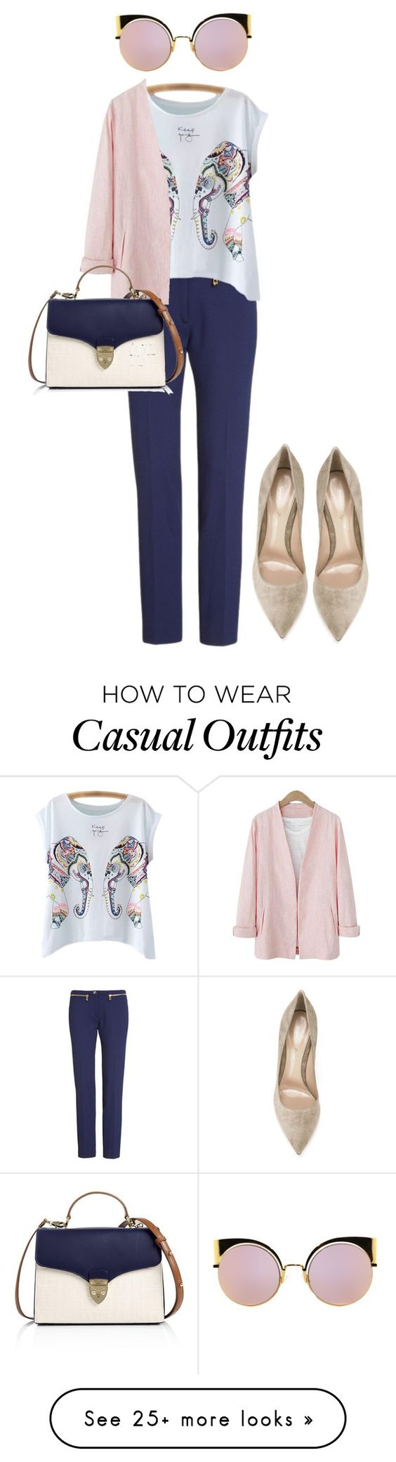 """""""casually classic"""" by monicawhb on Polyvore featuring Versace, Gianvito Rossi, Aspinal of London and Fendi"""