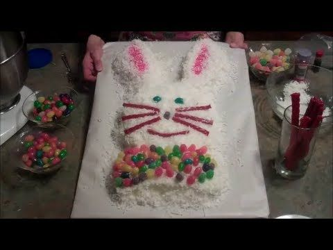 How To Make An Easy #Easter Bunny Cake