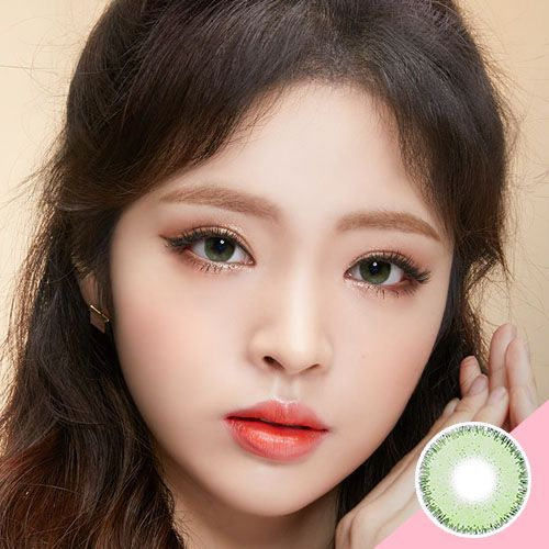 Lens Town A872 Green Contact Lenses Cats Eye Soft Cosmetic Idol Lens Pitchy Green Contacts Lenses Contact Lenses Green Contacts
