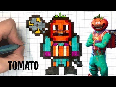 Chadessin Pixel Art Fortnite Youtube Dessin Dessin
