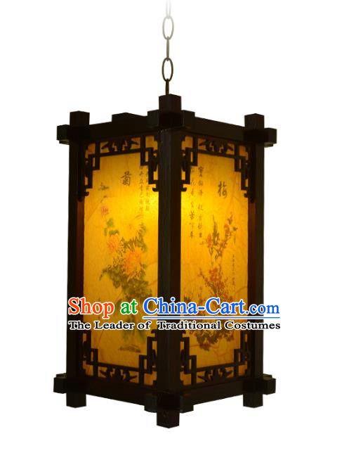 Chinese Handmade Palace Printing Hanging Lantern Traditional Lantern Festival Ceiling Lamp Ancient Lanterns Hanging Lanterns Traditional Lanterns Lanterns