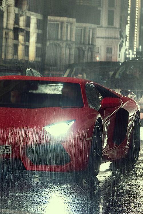 lamborghini under the rain  u2665      luxuryworld altervista