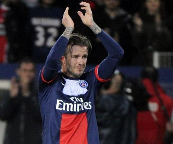 Beckham se despidió del Parque de los Príncipes entre lágrimas