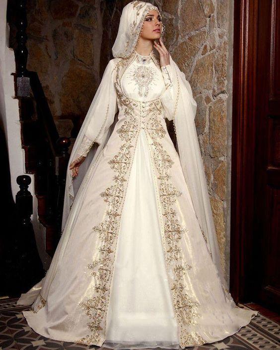 New-Hot-Muslim-Saudi-Arabia-font-b-Wedding-b-font-Dress-font-b-Gold-b-font 5 Stunning Muslim Wedding Dresses for 2017
