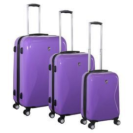 Love these.  At least I'd be able to find them among all the black bags.  Three-piece spinner luggage set on Joss & Main.