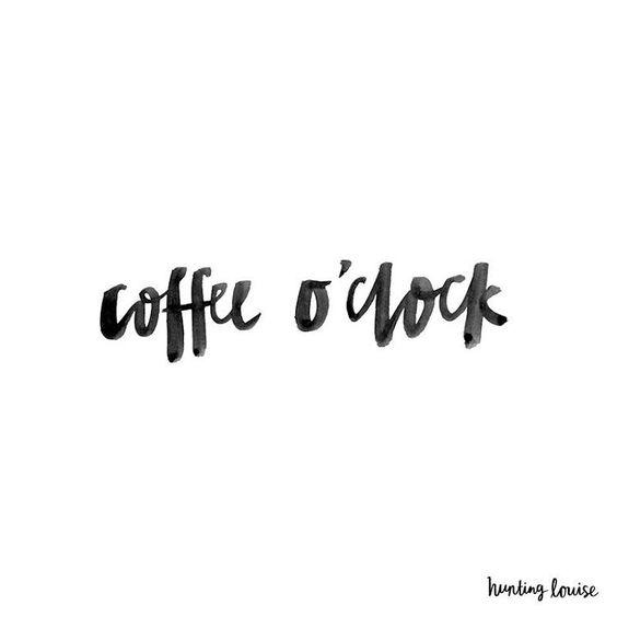 Post decorativo para imprimir cozinha coffee o clock