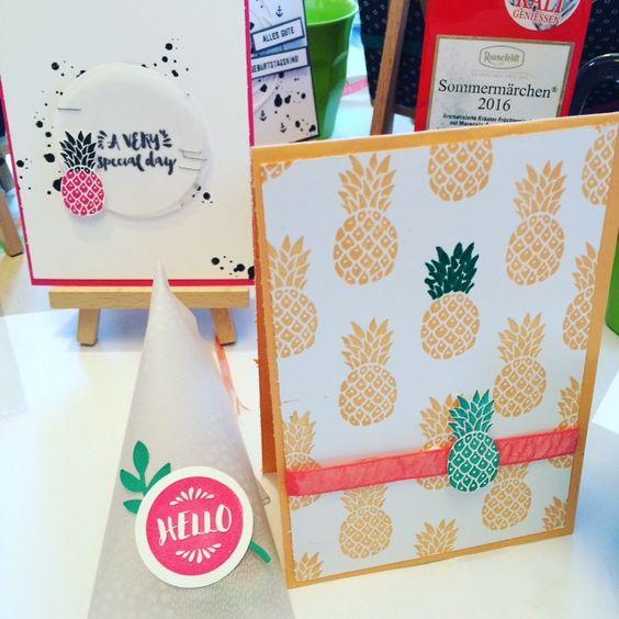 Party-Deko-Bastel-Workshop mit Trashtortendesign im Livland.#Diy cards#Partydekoration#Flamingo#Ananas#tropischeparty#schönerwohnen#Worldoflivland