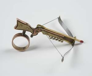 Crossbow Ring, looks like it shoots matchsticks