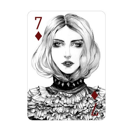 Seven of Diamonds Print + Playing Cards