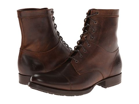 Frye Erin Lug Work Boot Dark Brown Antique Pull Up - Zappos.com ...