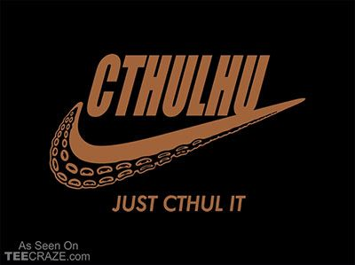 Just Cthul It T-Shirt - http://teecraze.com/just-cthul-it-t-shirt/ -  Designed by JCMaziu